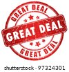 Great deal grunge stamp - stock photo
