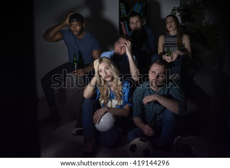 Great disappointment after the final match - stock photo