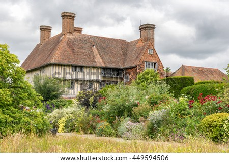 Great Dixter,England on 8th July 2016: Great Dixter is a house and gardens in Northiam, East Sussex, England and was built in 1910â??12 by architect Edwin Lutyens with Christopher Lloyd