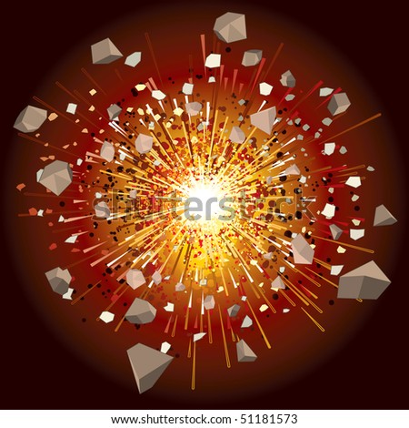 Great explosion -(id=50659777 version vector) - stock photo