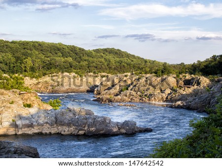 Great Falls National Park - stock photo