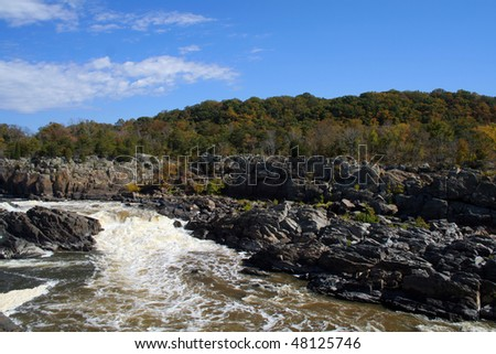 Great Falls of the Potomac River in Virginia - stock photo
