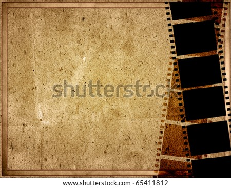 Great film strip for textures and backgrounds with space - stock photo