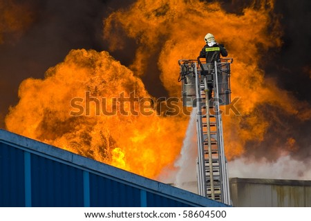 great fire - stock photo
