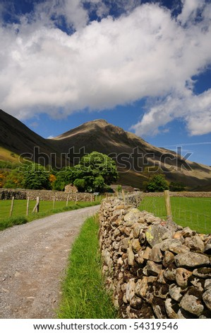 Great Gable in summer, English Lake District - stock photo