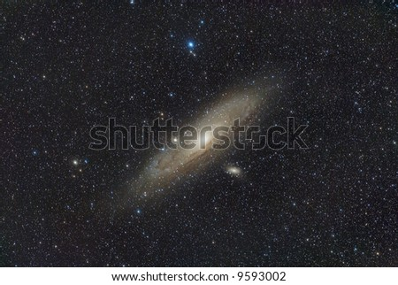 Great galaxy in Andromeda - stock photo