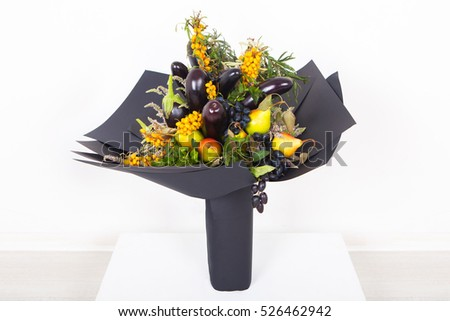 Great gift bouquet of fruit and berries