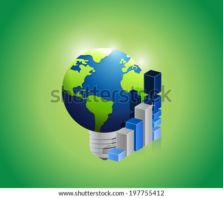 great global international business idea illustration design over a white background