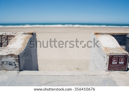 Great Highway beach, San Francisco, USA - stock photo