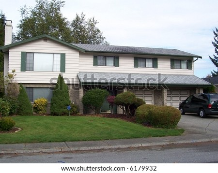 great house - stock photo