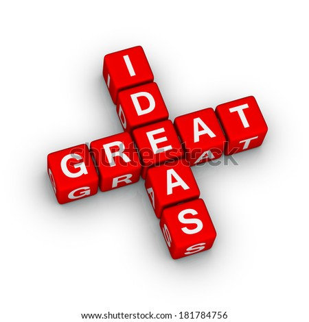 great ideas icon (red-white crossword series)