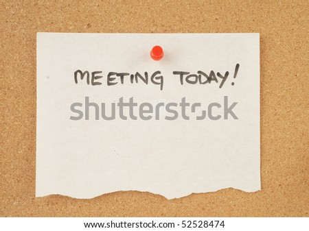 great image of a note pinned to a corkboard - stock photo