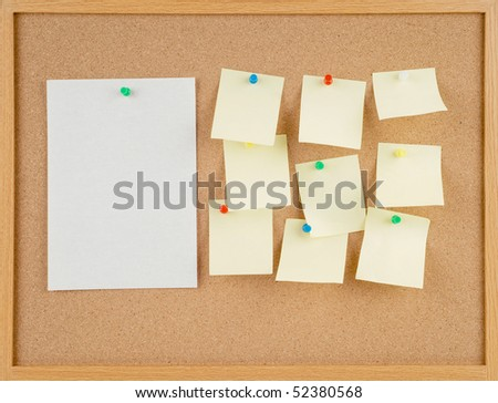 great image of notes pinned to a corkboard