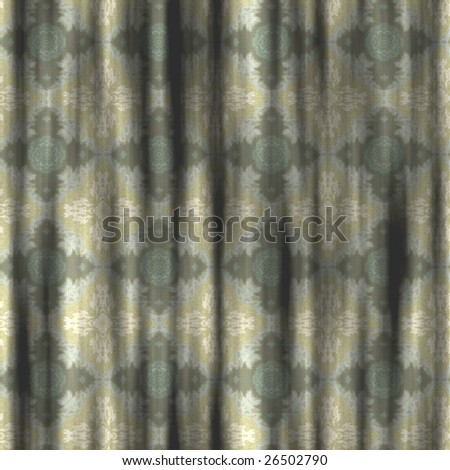 great image of old grungy retro curtains