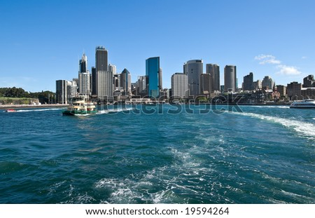 great image of sailing into sydney harbour