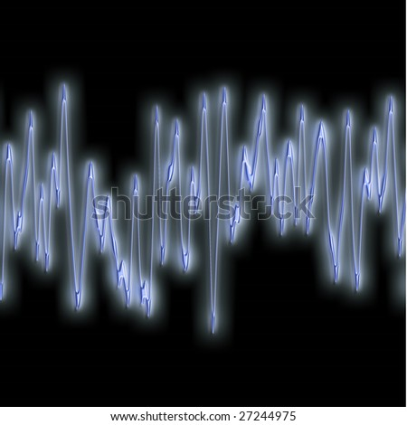 great image of very bright and glowing sound wave