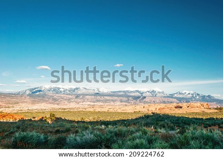 Great landscape of Utah state. USA  - stock photo
