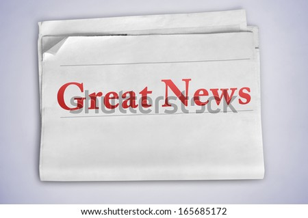 Great News word on newspaper - stock photo