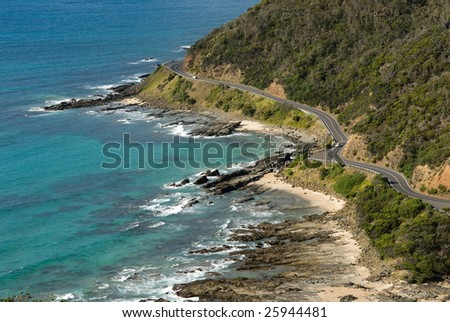Great Ocean Road, Victoria, Australia - stock photo
