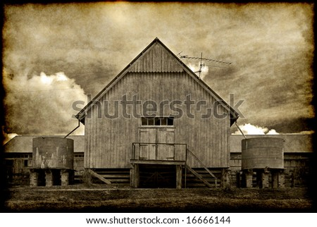 great old grungy image of an old barn on the farm