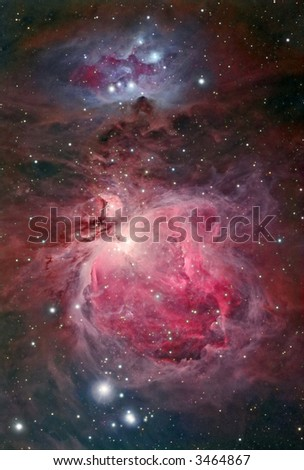 Great Orion nebular complex - stock photo