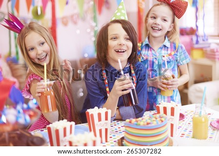 Great party for those kids - stock photo