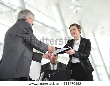 Great project! Successful deal. - stock photo