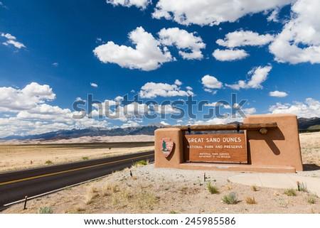 Great Sand Dunes Colorado - stock photo