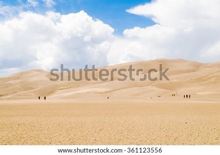 Great Sand Dunes National Park - Colorado - USA - stock photo
