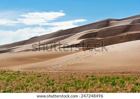 Great Sand Dunes National Park Desert Landscape - stock photo