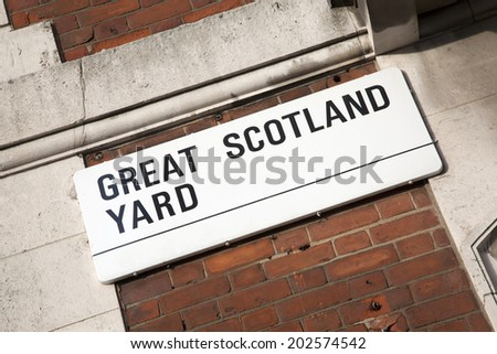 Great Scotland Yard Street Sign; Westminster; London; England; UK