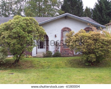 great shot of nice house - stock photo