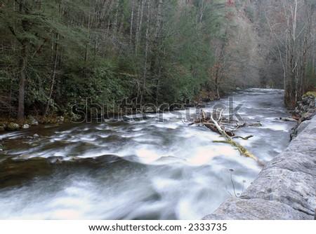 Great Smoky Mountains National Park - Near Meigs Falls - stock photo