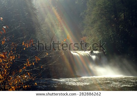 Great Smoky Mountains National Park  Scenic Waterfall Abrams Falls - stock photo
