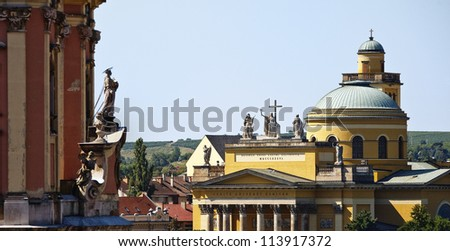 Great temples of Eger, Hungary - stock photo