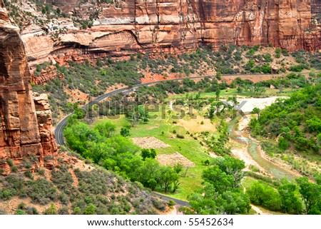 Great view of Zion Canyon