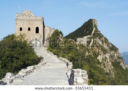 Great Wall at Simatai, Beijing - stock photo