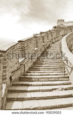 Great Wall, China - stock photo