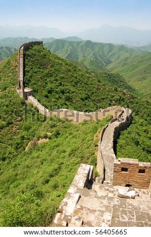 Great Wall of China at Simatai - stock photo