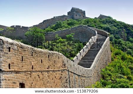 Great wall of China (HDR image) - stock photo