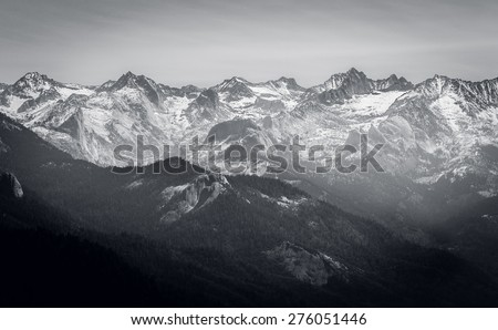 Great Western Divide, Sequoia National Park, California  - stock photo