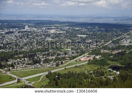 Greater Vancouver - Surrey, White Rock, Highway 99 and King George Highway - stock photo