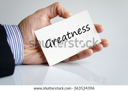 Greatness text concept isolated over white background