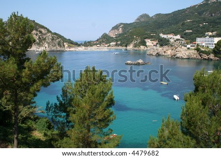 Greece. Corfu, Paleokastrica bay