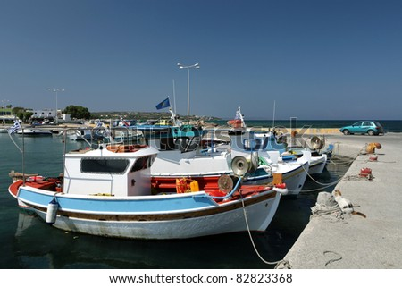 greece dodecanese kos a view of mastichari harbour - stock photo