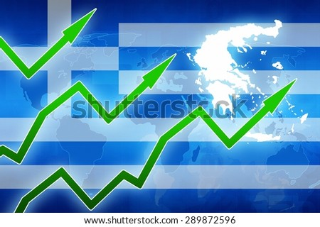 Greece finance prosperity concept news background illustration - stock photo