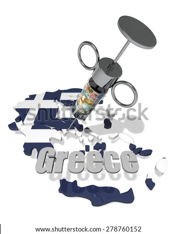 greece financial crisis - stock photo