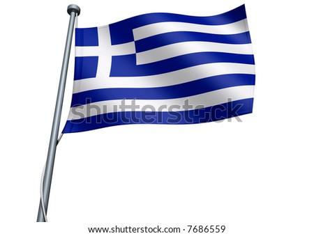 Greece Flag - stock photo