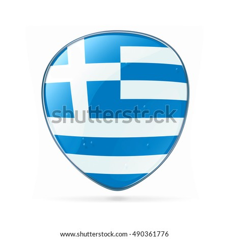 Greece Flag Icon, isolated on white background