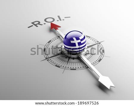 Greece High Resolution ROI Concept - stock photo